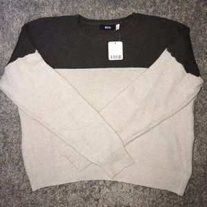 BDG Two-tone Cropped Knit Sweater